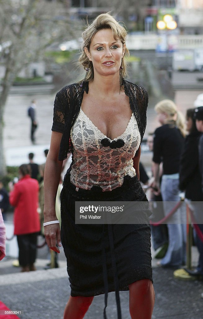 TV celebrity Charlotte Dawson arrives to attend the 2005 New Zealand Music Awards ceremony held at The Aotea Centre on October 5 2005 in Auckland New...