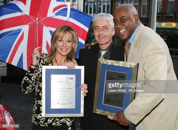 Celebrity chef Ainsley Harriott presents Anstruther Fish Bar and Restaurant in Fife with the award for being the UK's secondbest chip shop at the...