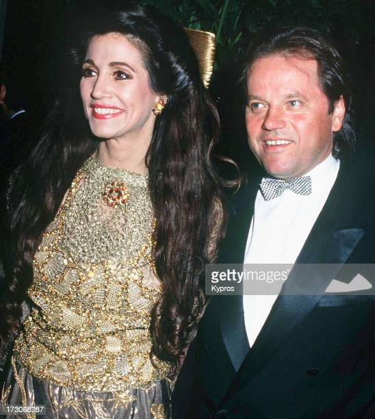Celebrity chef and restaurateur Wolfgang Puck with actress Edy Williams circa 1992