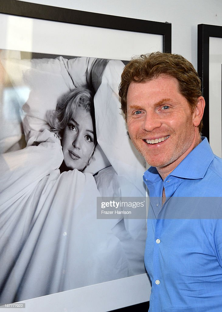Celebrity chef <a gi-track='captionPersonalityLinkClicked' href=/galleries/search?phrase=Bobby+Flay&family=editorial&specificpeople=220554 ng-click='$event.stopPropagation()'>Bobby Flay</a> attends the Chopard and W Magazine 'Marilyn Forever' exhibition at Soho Beach House on December 6, 2012 during Art Basel Miami in Miami Beach, Florida.