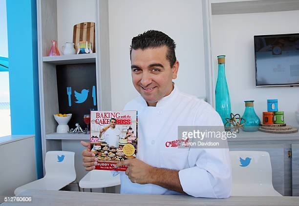 Celebrity Chef Buddy Valastro poses with his book during the Goya Foods Grand Tasting Village Featuring MasterCard Grand Tasting Tents KitchenAid®...