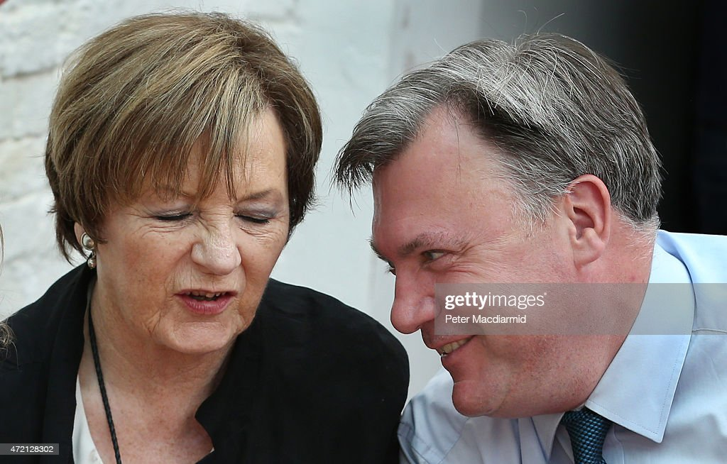 Celebrity chef <a gi-track='captionPersonalityLinkClicked' href=/galleries/search?phrase=Delia+Smith&family=editorial&specificpeople=216342 ng-click='$event.stopPropagation()'>Delia Smith</a> and Labour party shadow chancellor <a gi-track='captionPersonalityLinkClicked' href=/galleries/search?phrase=Ed+Balls&family=editorial&specificpeople=3244683 ng-click='$event.stopPropagation()'>Ed Balls</a> share a joke at the Pelican on Portland cafe on May 4, 2015 in Hove, England. <a gi-track='captionPersonalityLinkClicked' href=/galleries/search?phrase=Delia+Smith&family=editorial&specificpeople=216342 ng-click='$event.stopPropagation()'>Delia Smith</a> has today announced that she is backing the Labour party. Campaigning is intensifying as the election enters it's last few days before voting begins on May 7, 2015.