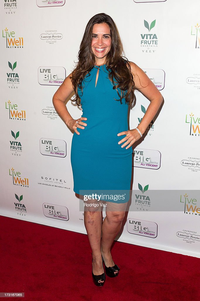 Celebrity chef Devin Alexander arrives at 'Live Big With Ali Vincent' Season 3 launch party at Sofitel Hotel on July 8, 2013 in Los Angeles, California.