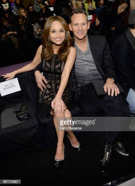 Celebrity Chef Giada De Laurentiis and designer Todd Thompson attend BCBGMAXAZRIA fashion show during MercedesBenz Fashion Week Fall 2014 at The...