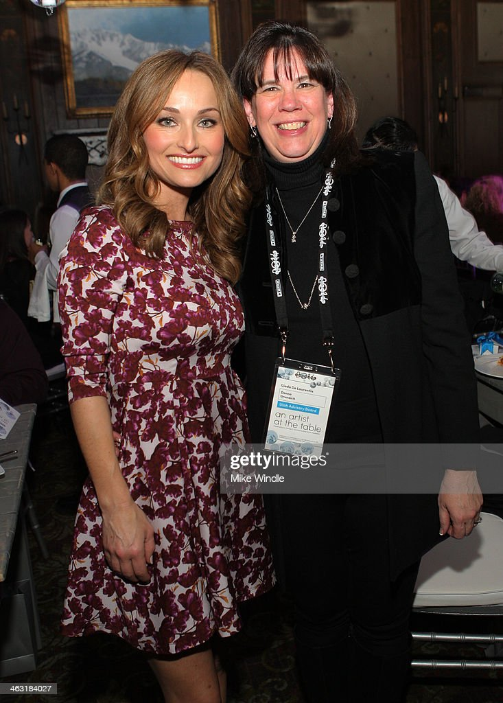 Celebrity chef Giada De Laurentiis and Event Chair Donna Gruneich attend An Artist at the Table: Dinner Program during the 2014 Sundance Film Festival at Stein Eriksen Lodge on January 16, 2014 in Park City, Utah.