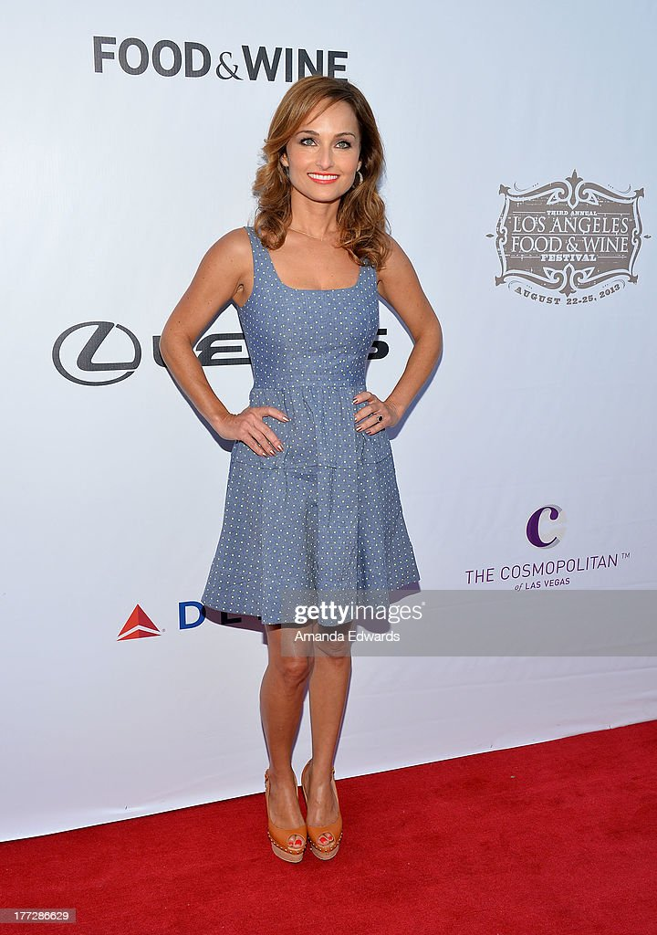 Celebrity chef <a gi-track='captionPersonalityLinkClicked' href=/galleries/search?phrase=Giada+De+Laurentiis&family=editorial&specificpeople=601210 ng-click='$event.stopPropagation()'>Giada De Laurentiis</a> arrives at the opening night of the 2013 Los Angeles Food & Wine Festival - 'Festa Italiana With <a gi-track='captionPersonalityLinkClicked' href=/galleries/search?phrase=Giada+De+Laurentiis&family=editorial&specificpeople=601210 ng-click='$event.stopPropagation()'>Giada De Laurentiis</a>' on August 22, 2013 in Los Angeles, California.