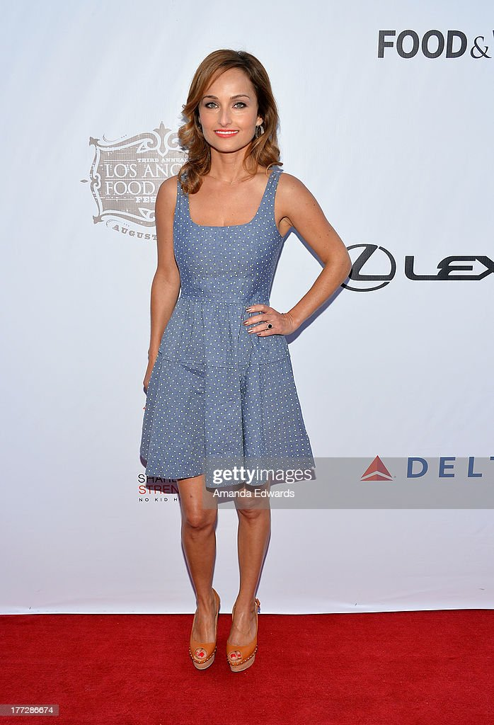Celebrity chef Giada De Laurentiis arrives at the opening night of the 2013 Los Angeles Food Wine Festival 'Festa Italiana With Giada De Laurentiis'...
