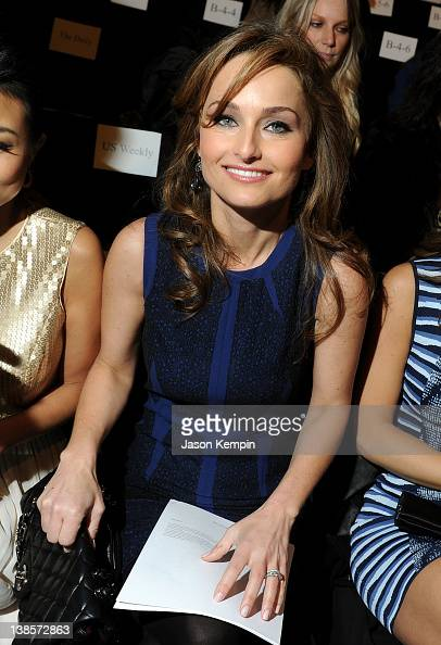 Celebrity chef Giada De Laurentiis attends the BCBG Max Azria Fall 2012 fashion show during MercedesBenz Fashion at The Theatre at Lincoln Center on...