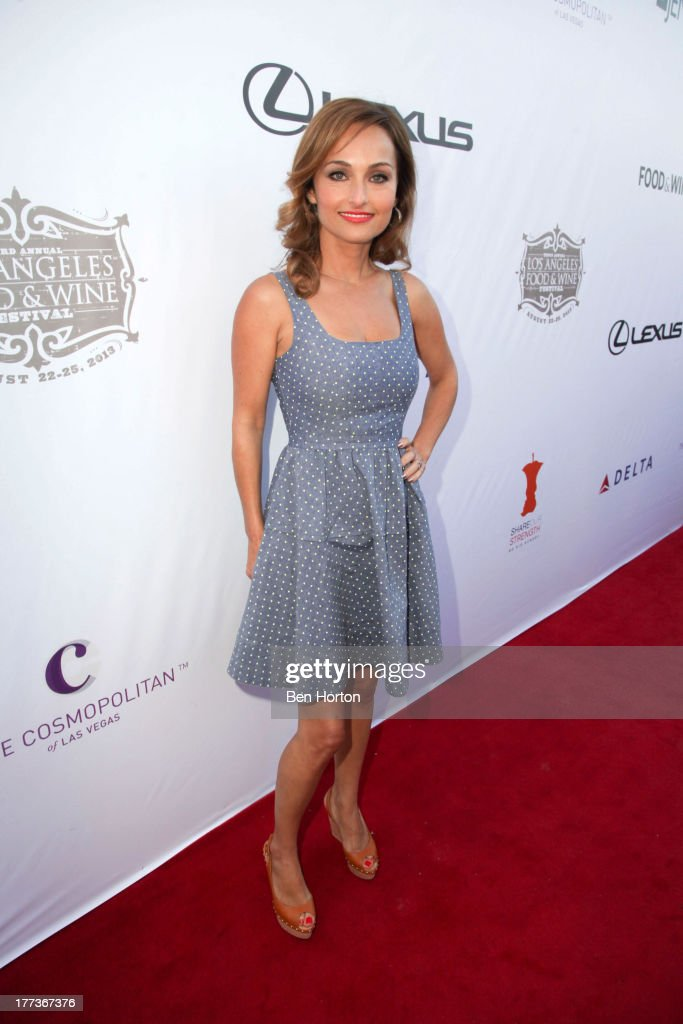 Celebrity chef <a gi-track='captionPersonalityLinkClicked' href=/galleries/search?phrase=Giada+De+Laurentiis&family=editorial&specificpeople=601210 ng-click='$event.stopPropagation()'>Giada De Laurentiis</a> attends the Festa Italiana with Giada de Laurentiis opening night celebration of the third annual Los Angeles Food & Wine Festival on August 22, 2013 in Los Angeles, California.