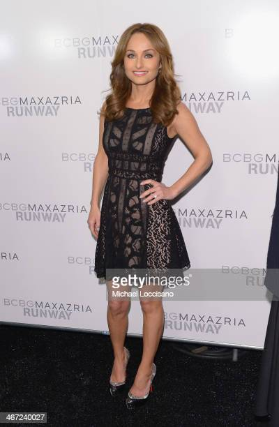 Celebrity chef Giada De Laurentiis poses backstage at BCBGMAXAZRIA fashion show during MercedesBenz Fashion Week Fall 2014 at The Theatre at Lincoln...
