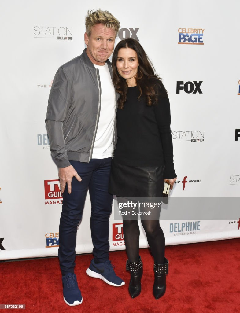 Celebrity chef Gordon Ramsay (L) and Tana Ramsay attend 'The F Word' celebration at Station Hollywood at W Hollywood Hotel on May 22, 2017 in Hollywood, California.