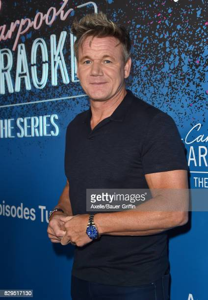Celebrity chef Gordon Ramsay arrives at 'Carpool Karaoke The Series' On Apple Music Launch Party at Chateau Marmont on August 7 2017 in Los Angeles...