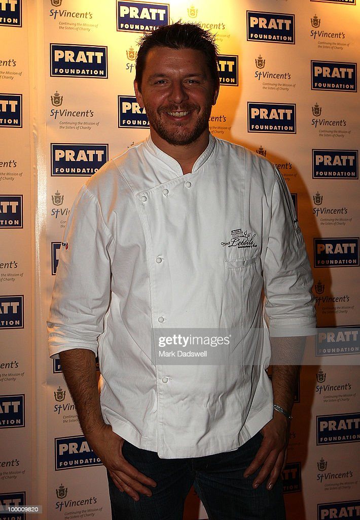 Celebrity chef Manu Feildel arrives at the Pratt Foundation's 'An Intimate Evening with Sir Bob Geldof' in support of St Vincent's Cancer Center on May 20, 2010 in Melbourne, Australia.
