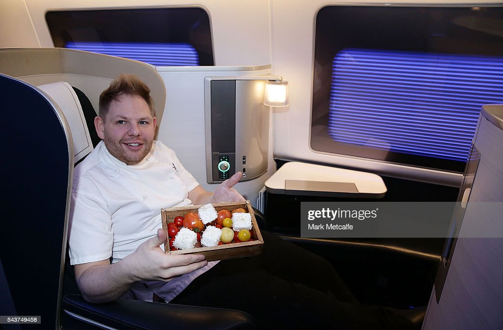 Celebrity chef Nelly Robinson poses on a British Airways 777-300 on June 30, 2016 in Sydney, Australia. Jessie J played an acoustic set for VIPs and competition winners to celebrate the arrival of summer in the UK.