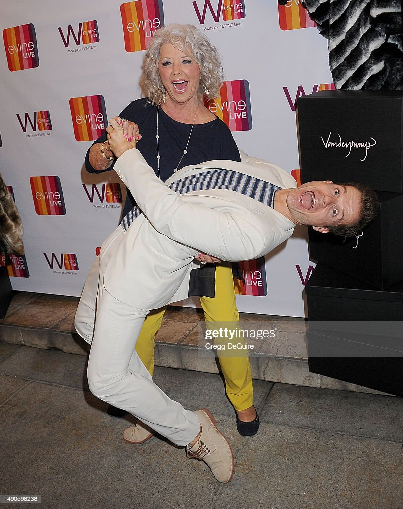 Paula deen photo getty images - Celebrity Chef Paula Deen And Dancer Louis Van Amstel Arrive At The Evine Live Celebration At