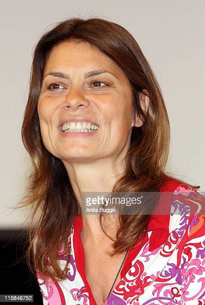 Celebrity chef Sarah Wiener attends a press conference to introduce her 'Sarah Wiener Foundation' to the public on June 11 2008 in Berlin Germany The...