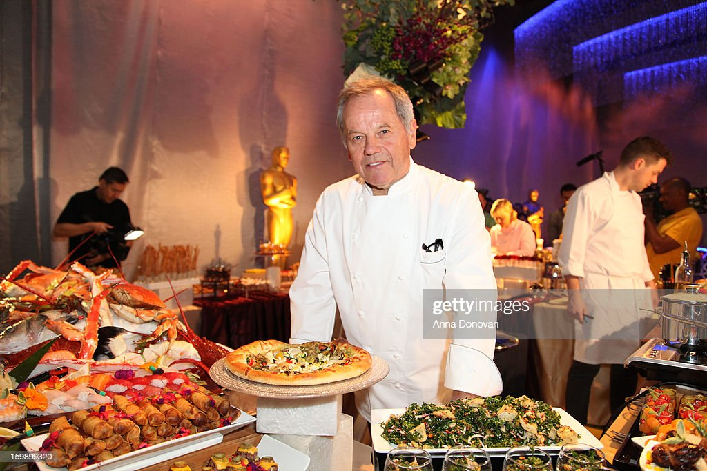 Celebrity chef <a gi-track='captionPersonalityLinkClicked' href=/galleries/search?phrase=Wolfgang+Puck&family=editorial&specificpeople=157523 ng-click='$event.stopPropagation()'>Wolfgang Puck</a> at The Ray Dolby Ballroom during the 85th Annual Academy Awards Governors Ball preview at Hollywood & Highland Center on January 22, 2013 in Hollywood, California.