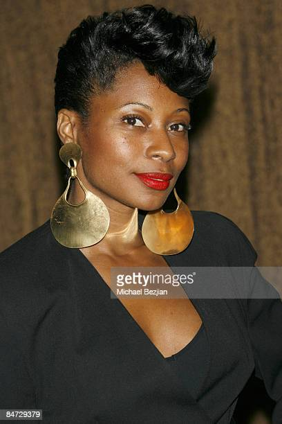 Celebrity choreographer Fatima Robinson attend the Universal Motown Records Group PostGrammy Party at Whiskey Blue on February 8 2009 in Westwood...