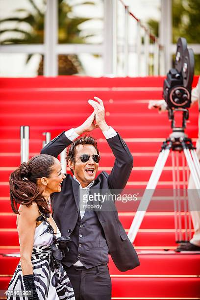 Celebrity couple sur le tapis rouge à Cannes