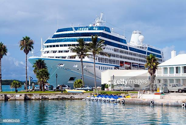 Celebrity cruise ship docked in St George