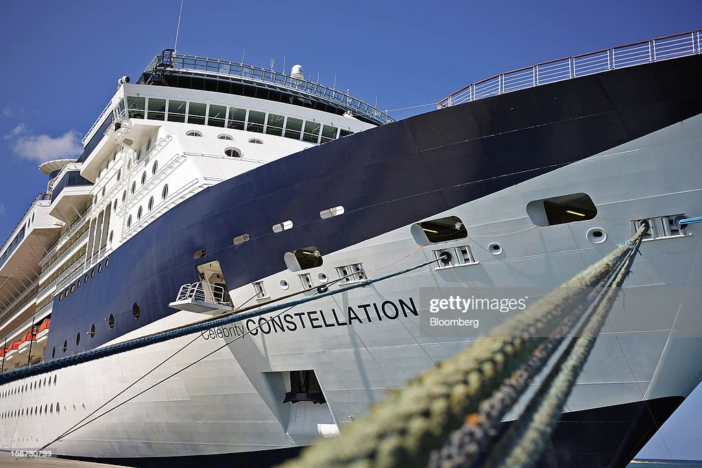 Celebrity Cruises Inc.'s Constellation cruise ship sits docked in Falmouth, Jamaica, on Monday, Dec. 17, 2012. Royal Caribbean Cruises Ltd. is a global cruise vacation company that operates Azamara Club Cruises, Celebrity Cruises, CDF Croisieres de France, Pullmantur Cruises and Royal Caribbean International. Photographer: Tim Boyle/Bloomberg via Getty Images
