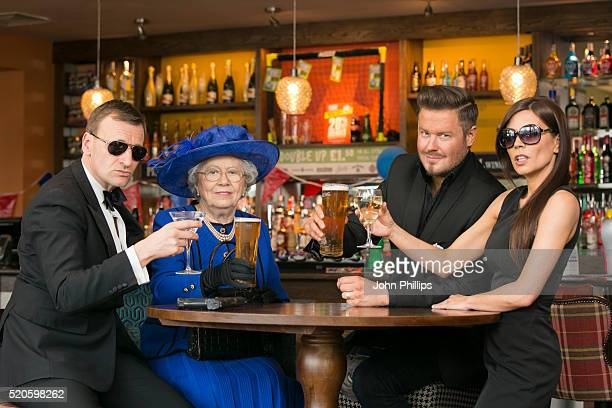 Celebrity doppelgangers 'David and Victoria Beckham' 'Daniel Craig' and 'Her Majesty The Queen' have joined forces with Hungry Horse pubs to launch...