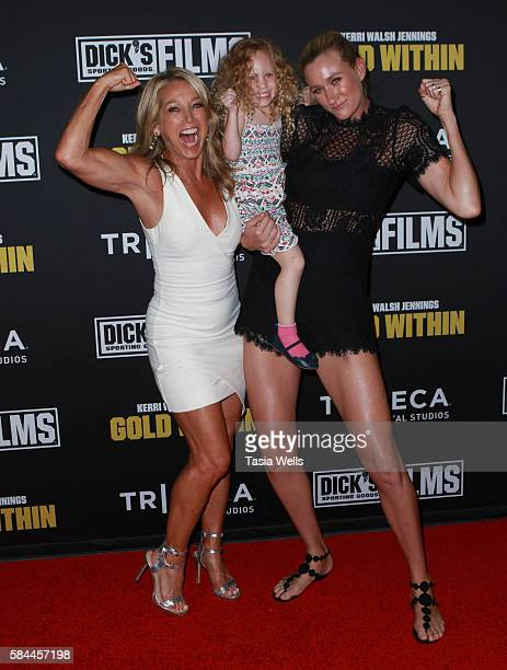 Celebrity fitness instructor Denise Austin Scout Jennings and Professional beach volleyball player and threetime Olympic gold medalist Kerri Walsh...