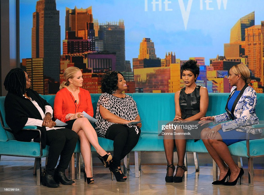 "THE VIEW - Celebrity guest co-host Melissa Joan Hart (ABC Family's ""Melissa & Joey"") and guests Mary J. Blige & Angela Bassett (""Betty & Coretta"") appeared today, January 28, 2013 on 'The View.' 'The View' airs Monday-Friday (11:00 am-12:00 pm, ET) on the ABC Television Network. J. BLIGE"