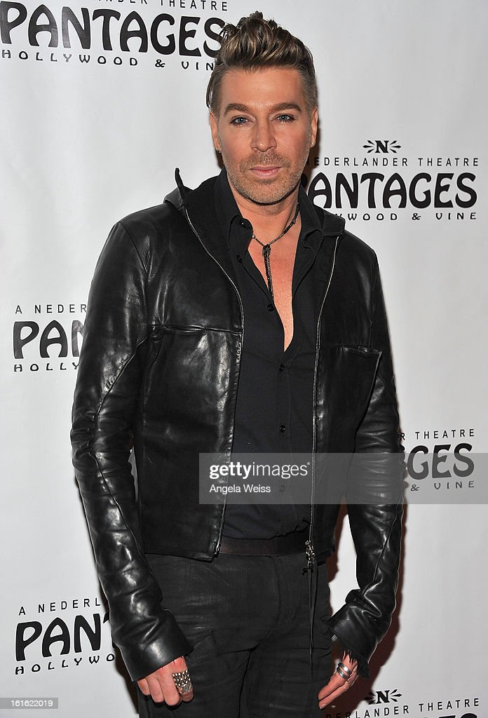 Celebrity hair stylist Chaz Dean arrives at the opening night of 'Jekyll & Hyde' held at the Pantages Theatre on February 12, 2013 in Hollywood, California.