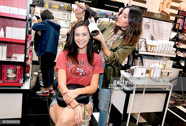 Celebrity hair stylist Jen Atkin gives guests a complimentary blowout with the Dyson Supersonic during her personal appearance with Dyson in Sephora...