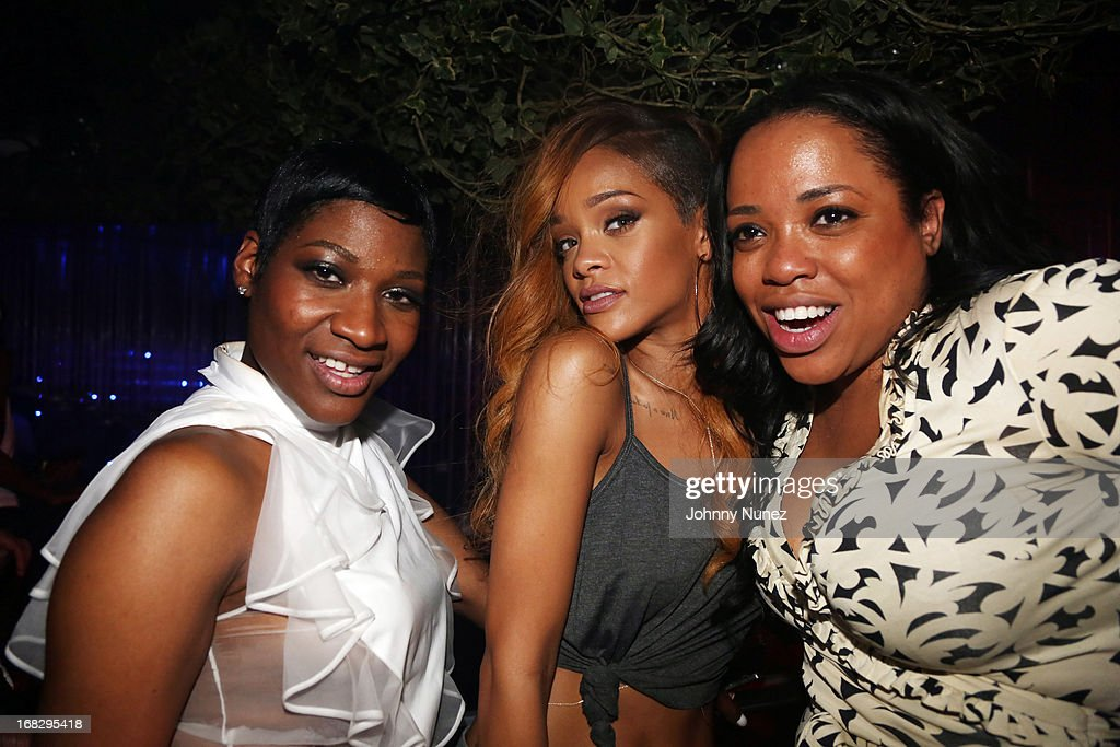 Celebrity hairstylist Ursula Stephen recording artist Rihanna and guest attend Talib Kweli's Album Release Party at Greenhouse on May 7 in New York...