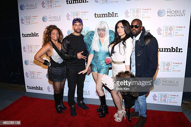 Celebrity impersonators attend Tumblr's Year In Review 2014 at Brooklyn Night Bazaar on December 10 2014 in New York City