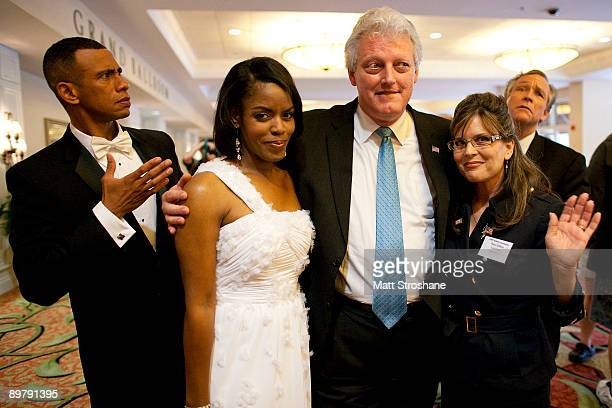 Celebrity impersonators Ron Butler as US President Barack Obama Vernetta Jenkins as First Lady Michelle Obama Dale Leigh as former US President Bill...