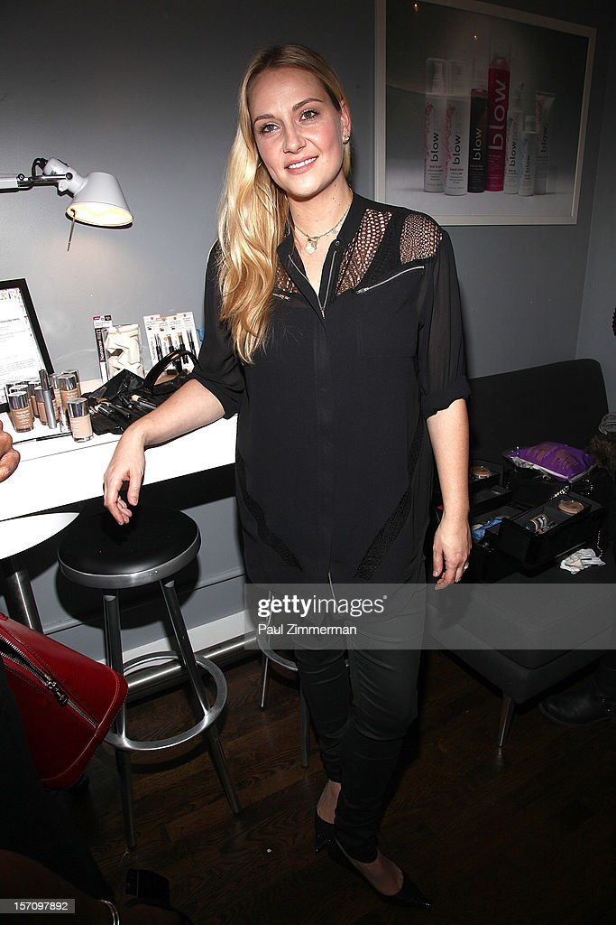 Celebrity make-up artist Amy Oresman attends a holiday party prep event, offering tips on her favorite beauty must-haves this holiday season at BLOW on November 28, 2012 in New York City.