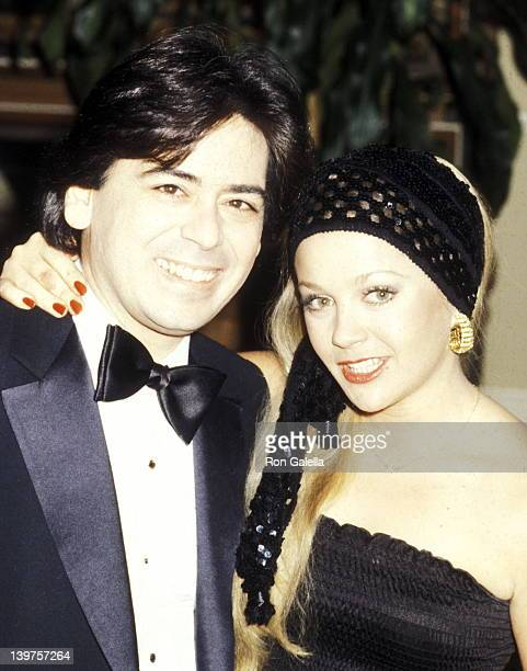 Celebrity Manager Jon Mercedes III and Actress Charlene Tilton attend the 37th Annual Golden Globe Awards on January 26 1980 at Beverly Hilton Hotel...