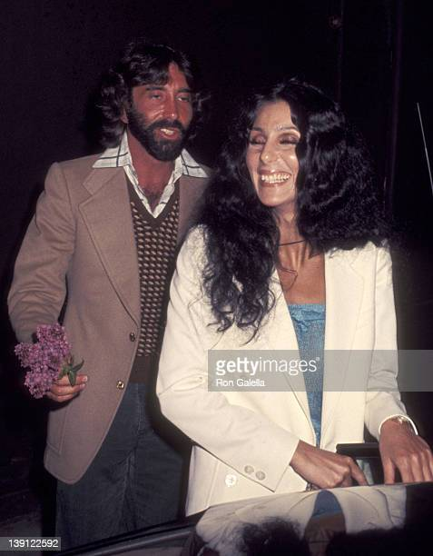 Celebrity manager Sandy Gallin and singer Cher attend Dolly Parton's Opening Night Performance on April 15 1977 at the Roxy Theatre in West Hollywood...