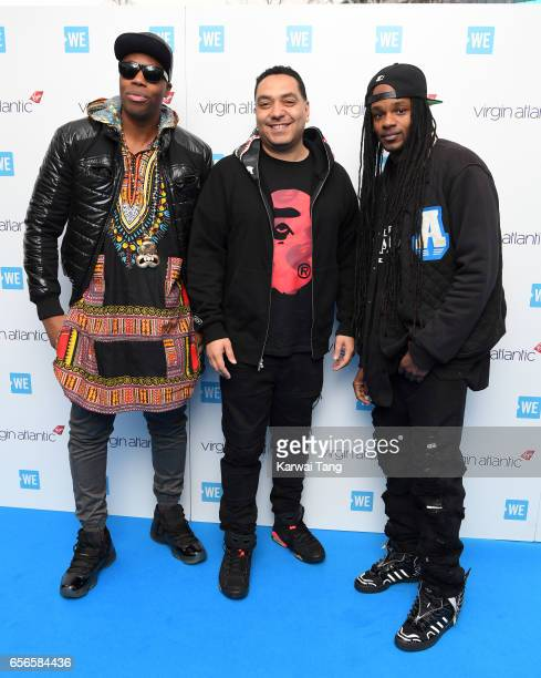 Celebrity Marauders DJ Kardinal Offishall Cipha Sounds and Dready attend WE Day UK at The SSE Arena on March 22 2017 in London United Kingdom
