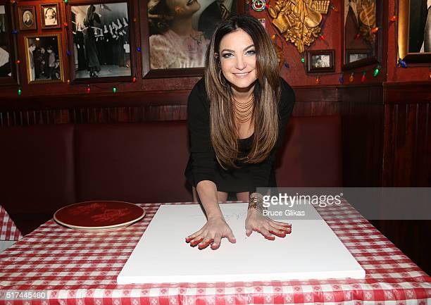 Celebrity Poker Champion Beth Shak visits Buca di Beppo Times Square on March 24 2016 in New York City