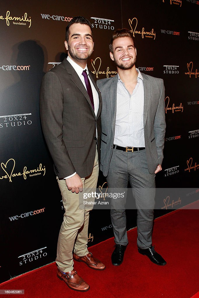 Celebrity Psychic Thomas John (L) and celebrity eyebrow stylist Joey Healy attend 2013 We Are Family Foundation Gala at Hammerstein Ballroom on January 31, 2013 in New York City.