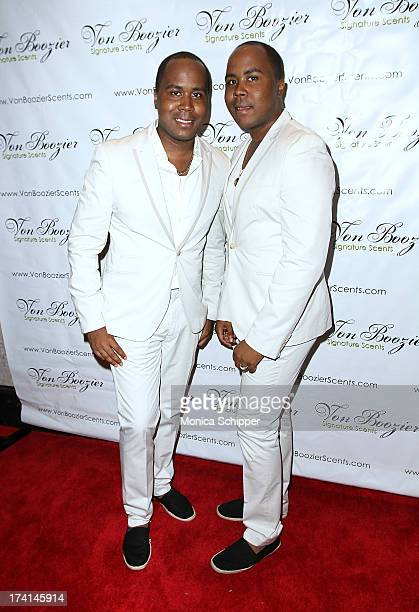 Celebrity Publicists Antoine Andre Von Boozier attend The Von Boozier 'Candles For A Cause' One Year Anniversary Event at Taj II on July 20 2013 in...