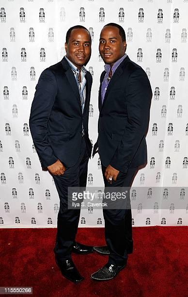 Celebrity publicists Antoine Von Boozier and Andre Von Boozier attend Rich Wierdo Presents Everything Else Is Regular at Rebel NYC on June 7 2011 in...