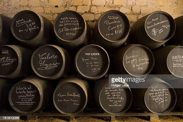 Celebrity sherry casks at Bodega Tio Pepe