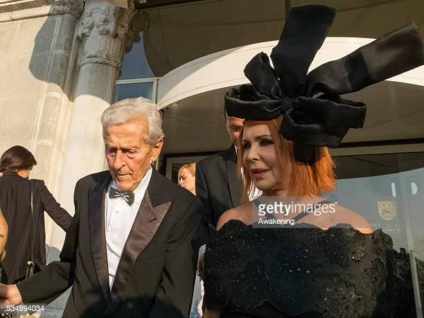 Celebrity Sightings outside the Hotel Excelsior The 71st Venice International Film Festival in the photo Carlo and Marina Ripa di Meana