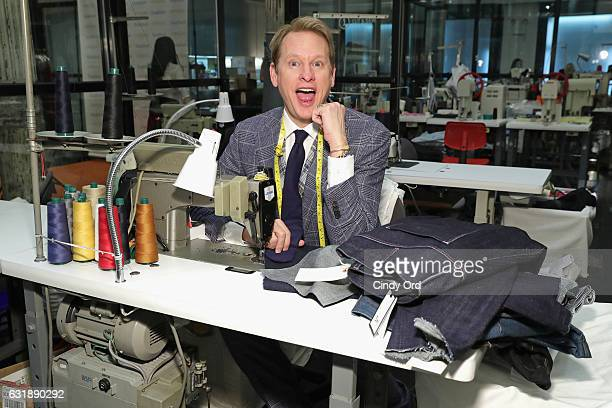 Celebrity Style Expert Carson Kressley hosts the 'SculpSure Day With the Denim Doctor' event with Dr Dennis Gross at 3x1 on January 17 2017 in New...