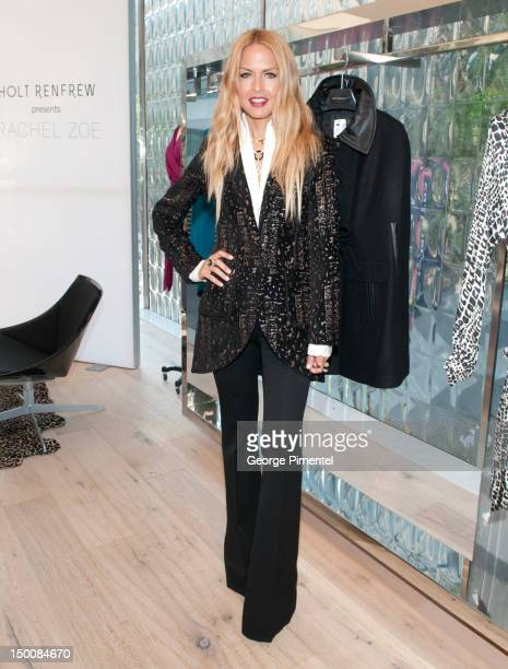 Celebrity stylist and fashion designer Rachel Zoe brings her fall 2012 collection to VancouverÕs Holt Renfrew store on August 9 2012 in Vancouver...