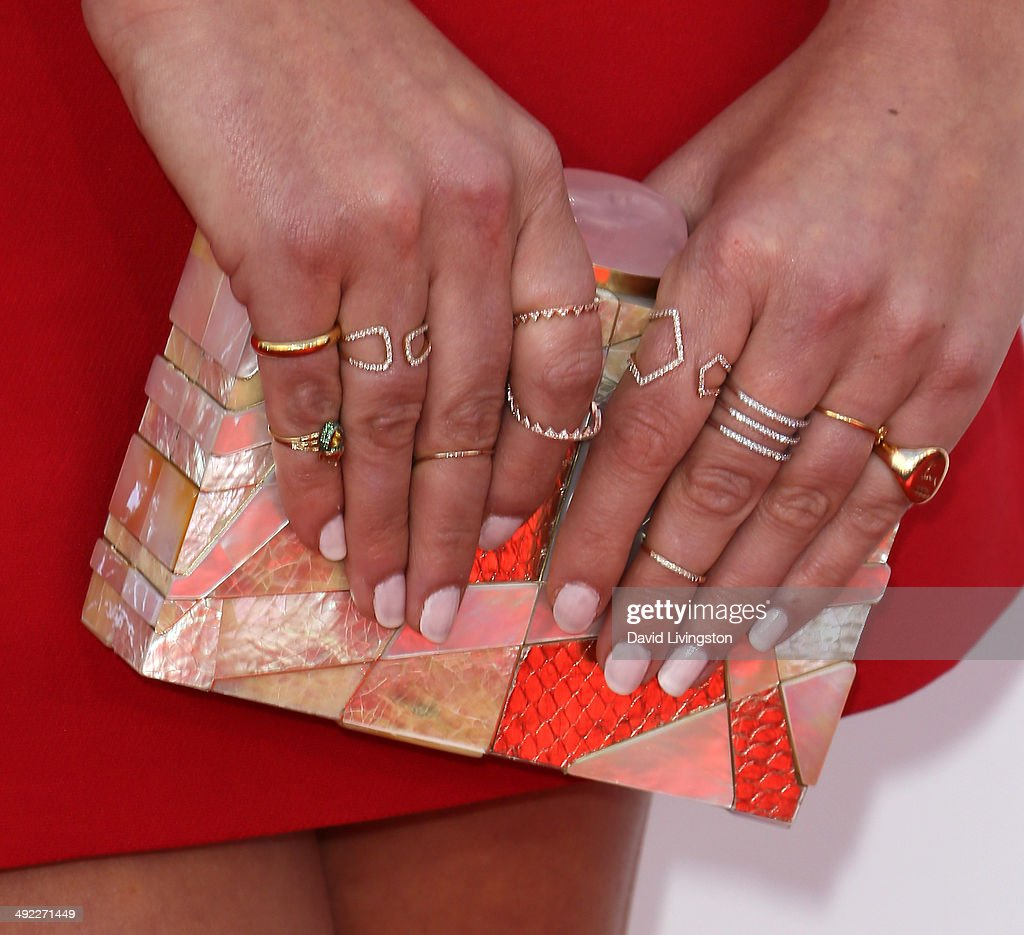 Celebrity stylist Anita Patrickson (purse & ring detail) attends the 2014 Billboard Music Awards at the MGM Grand Garden Arena on May 18, 2014 in Las Vegas, Nevada.