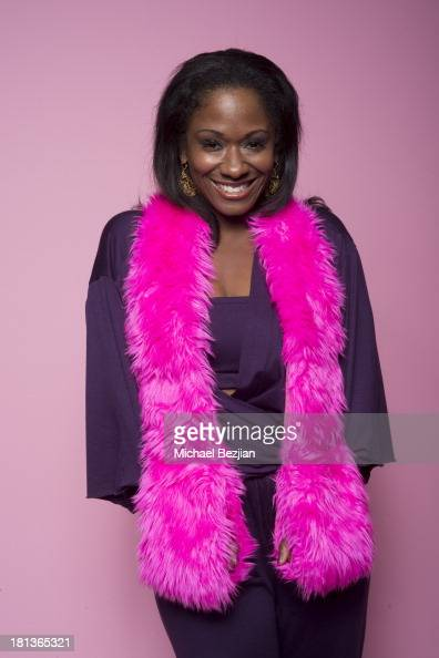 Celebrity stylist Okera Banks poses for a portrait at the Mark Kearney Group 'Iced Out' Luxury Emmy Suite on September 20 2013 in Los Angeles...