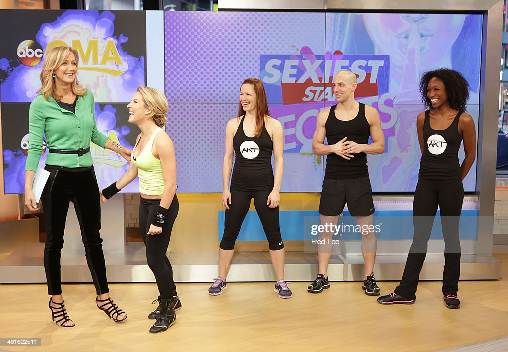AMERICA - Celebrity trainer Anna Kaiser shares workout tips on 'Good Morning America,' 1/9/14, airing on the ABC Television Network. KAISER, MODELS