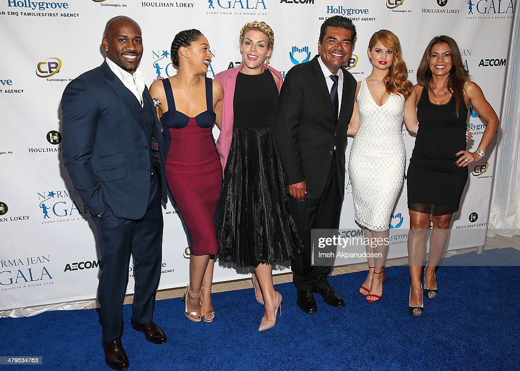 Celebrity trainer Dolvett Quince, actresses <a gi-track='captionPersonalityLinkClicked' href=/galleries/search?phrase=Tia+Mowry&family=editorial&specificpeople=631098 ng-click='$event.stopPropagation()'>Tia Mowry</a>-Hardrict, <a gi-track='captionPersonalityLinkClicked' href=/galleries/search?phrase=Busy+Philipps&family=editorial&specificpeople=216133 ng-click='$event.stopPropagation()'>Busy Philipps</a>, actor <a gi-track='captionPersonalityLinkClicked' href=/galleries/search?phrase=George+Lopez&family=editorial&specificpeople=202546 ng-click='$event.stopPropagation()'>George Lopez</a>, actresses <a gi-track='captionPersonalityLinkClicked' href=/galleries/search?phrase=Debby+Ryan&family=editorial&specificpeople=5443414 ng-click='$event.stopPropagation()'>Debby Ryan</a>, and <a gi-track='captionPersonalityLinkClicked' href=/galleries/search?phrase=Lisa+Vidal&family=editorial&specificpeople=665925 ng-click='$event.stopPropagation()'>Lisa Vidal</a> attend the 2nd Annual Norma Jean Gala at The Paley Center for Media on March 18, 2014 in Beverly Hills, California.