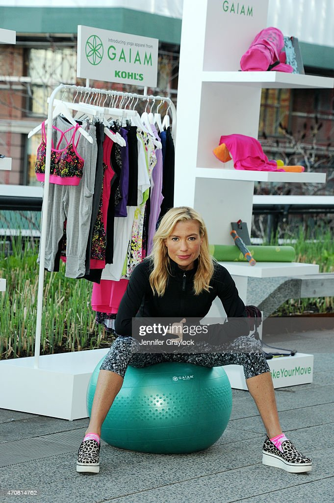 Celebrity trainer Tracy Anderson attends the Kohl's exclusive Gaiam apparel launch event at High Line on April 23 2015 in New York City